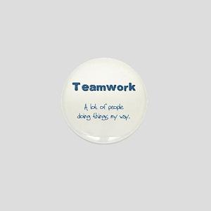 Teamwork - Blue Mini Button