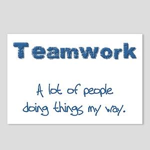 Teamwork - Blue Postcards (Package of 8)