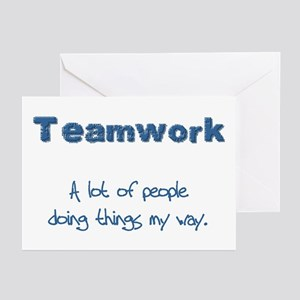 Teamwork - Blue Greeting Cards (Pk of 10)