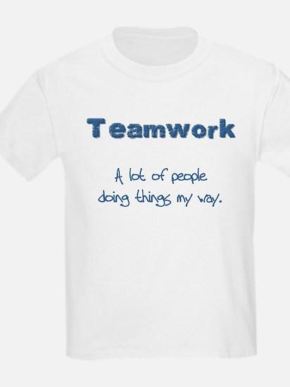 Teamwork - Blue Kids T-Shirt