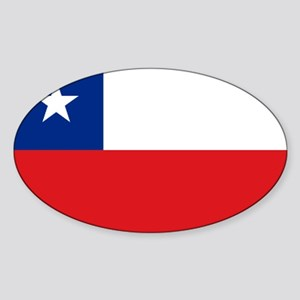 Chile Nal flag Oval Sticker