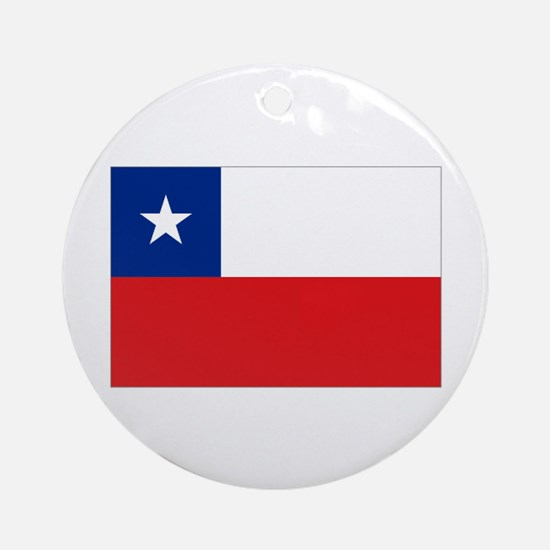 Chile Nal flag Ornament (Round)