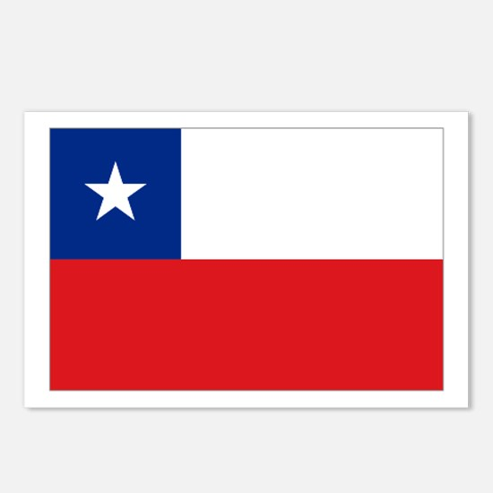 Chile Nal flag Postcards (Package of 8)