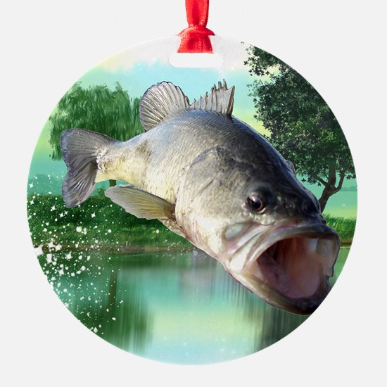 Green Bass Ornament
