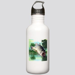 Green Bass Water Bottle