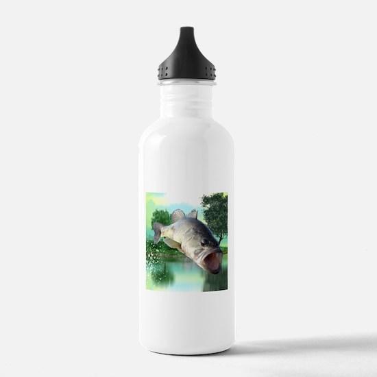 Green Bass Water Bottle
