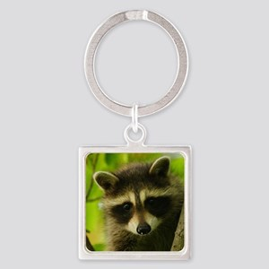 raccoon Square Keychain
