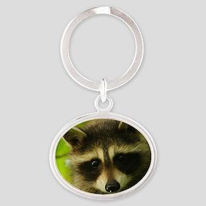 raccoon Oval Keychain