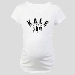 Kale University Black Maternity T-Shirt