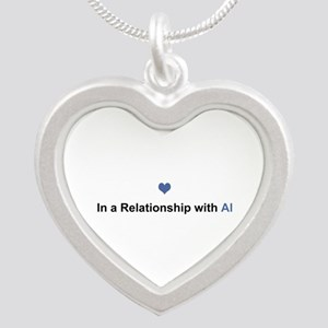 Al Relationship Silver Heart Necklace