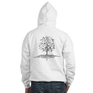 Guitar Tree with Roots Hooded Sweatshirt
