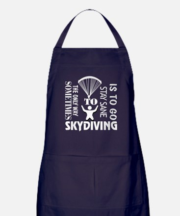 The Only Way Sometimes Skydiving T Sh Apron (dark)