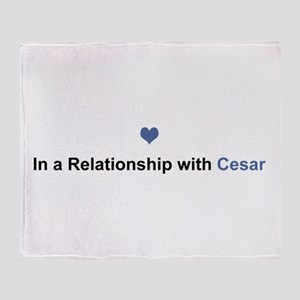 Cesar Relationship Throw Blanket