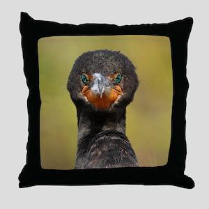 Cormorant Attitude Throw Pillow