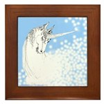 Blue Unicorn Dream Framed Tile
