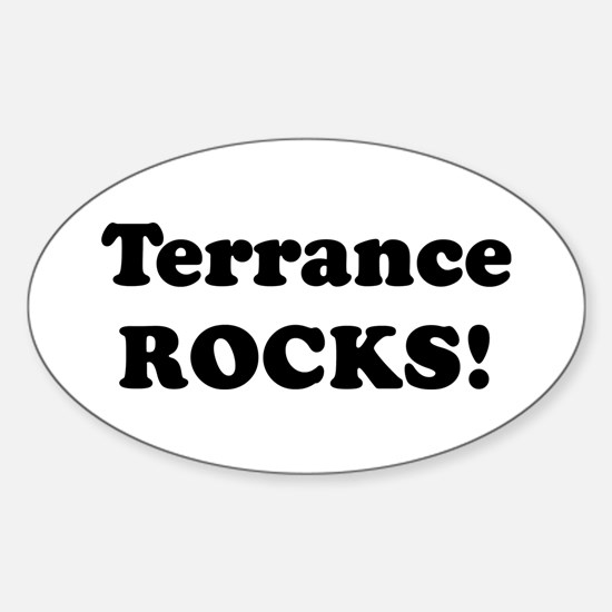 Terrance Rocks! Oval Decal