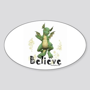 Young Dragon Oval Sticker
