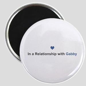 Gabby Relationship Round Magnet