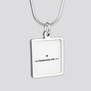 Joel Relationship Silver Square Necklace