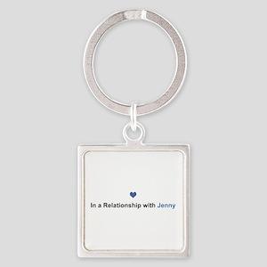 Jenny Relationship Square Keychain