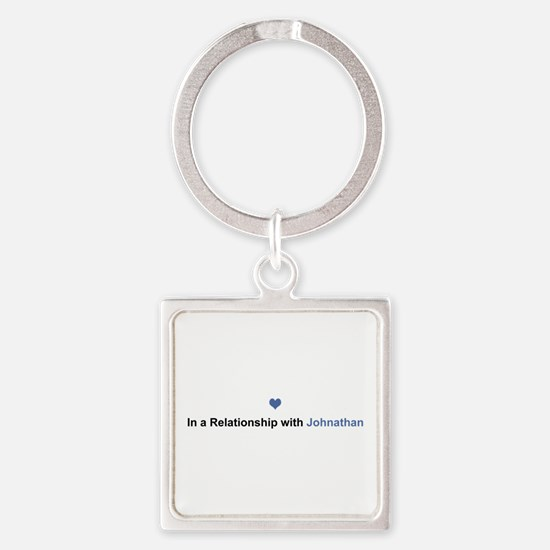 Johnathan Relationship Square Keychain