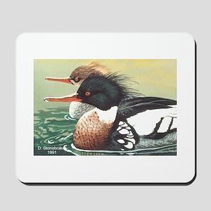 Merganser Ducks Sawbills Mousepad