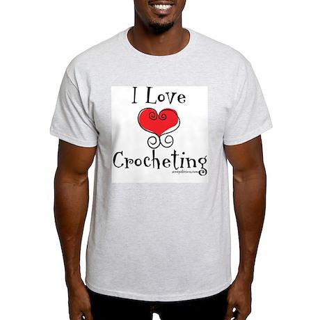 I Love (heart) Crocheting Light T-Shirt