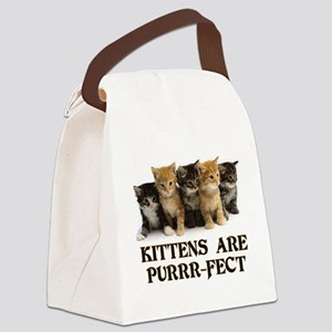 Kittens Are Purr-fect Canvas Lunch Bag