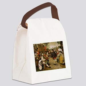 The Peasant Dance by Pieter Brueg Canvas Lunch Bag