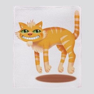Jumping Cat Throw Blanket