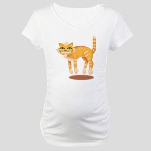 Jumping Cat Maternity T-Shirt