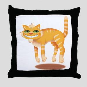 Jumping Cat Throw Pillow