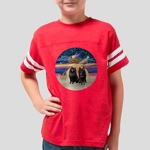 R - Xmas Star - Two Schipperk Youth Football Shirt