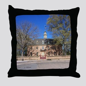 COLONIAL CAPITOL, WILLIAMSBURG VIRGIN Throw Pillow