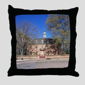 COLONIAL CAPITOL, WILLIAMSBURG VIRGIN Throw Pillow