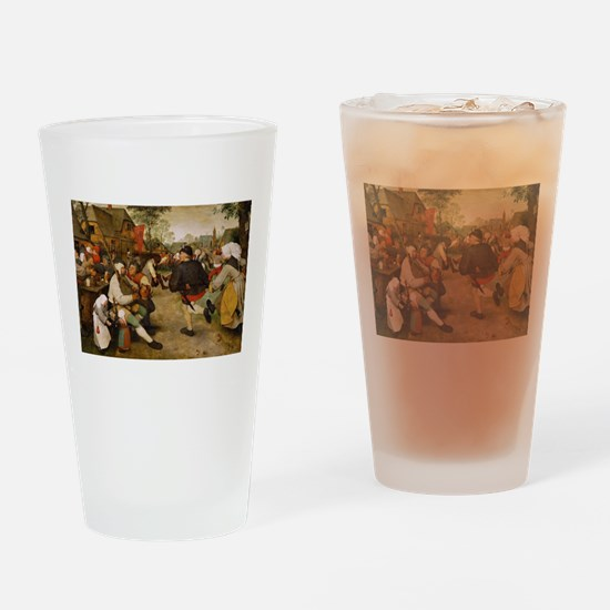 The Peasant Dance by Pieter Bruegal Drinking Glass
