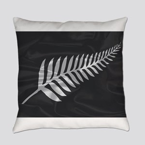 Silk Flag Of New Zealand Silver Fe Everyday Pillow