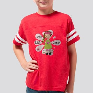 Brunette Princess Big Sister Youth Football Shirt