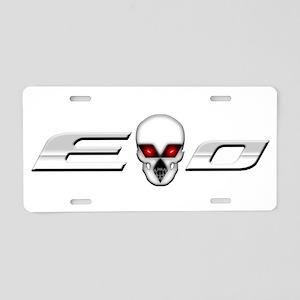 Evo Skull Aluminum License Plate