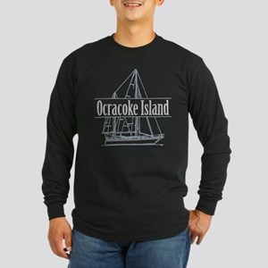 Ocracoke Island - Long Sleeve Dark T-Shirt
