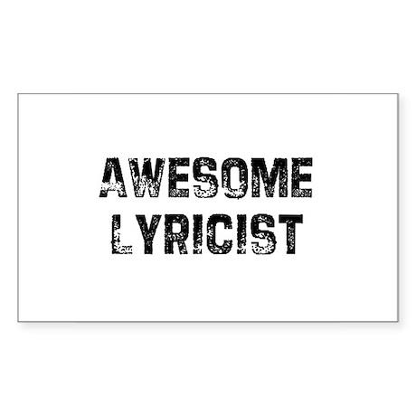 Awesome Lyricist Rectangle Sticker
