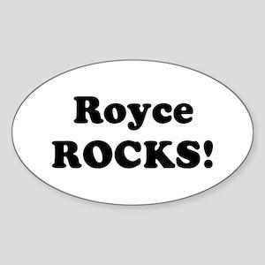 Royce Rocks! Oval Sticker