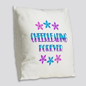 Cheerleading Forever Burlap Throw Pillow