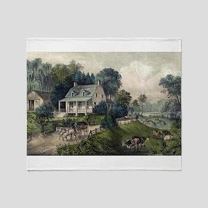 American homestead summer - 1868 Throw Blanket