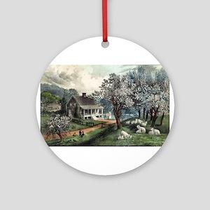 American homestead spring - 1869 Round Ornament