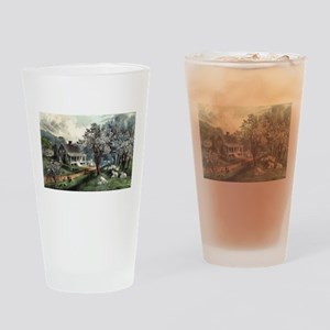 American homestead spring - 1869 Drinking Glass