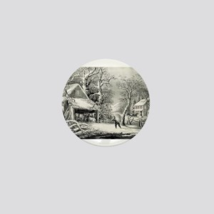 A snowy morning - 1864 Mini Button
