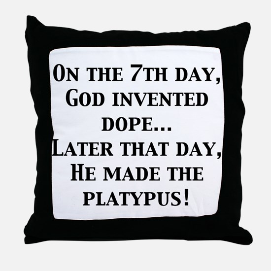 On the 7th Day... Throw Pillow