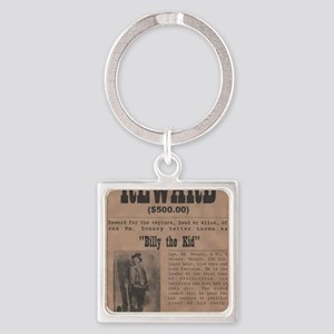Billy the Kid Wanted Poster by McM Square Keychain
