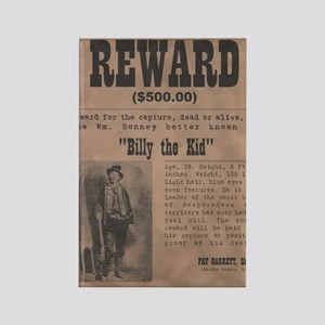 Billy the Kid Wanted Poster by Mc Rectangle Magnet